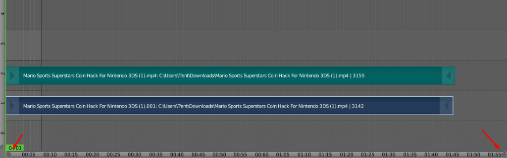 Adding videos in the video-sequence editor