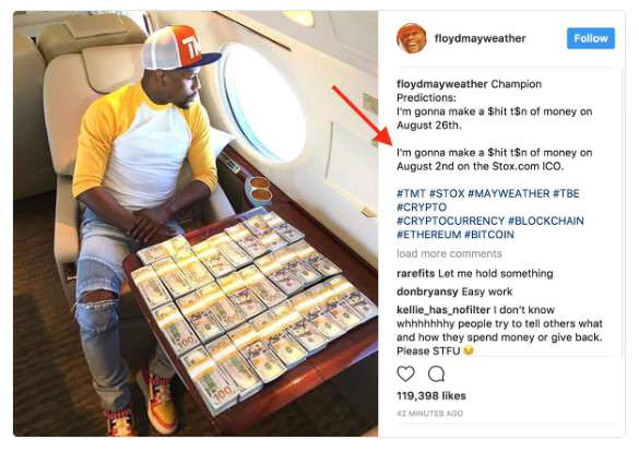 Floyd Money Mayweather Cryptocurrency